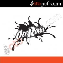 Off Road Çamur Sticker