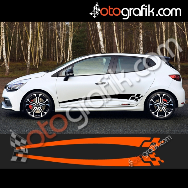 renault clio 4 sport oto sticker seti otografik. Black Bedroom Furniture Sets. Home Design Ideas