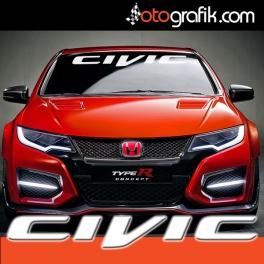 Civic Ön Cam Oto Sticker