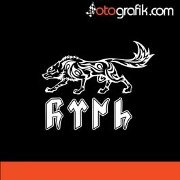 Göktürkçe Türk V3 Oto Sticker