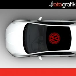 Volkswagen Logo Arma Oto Sticker
