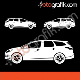 Ford Focus Mk3 Station Kelebek Cam  Sticker