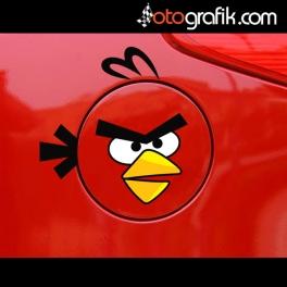 Depo Kapağı Angry Bird Oto Sticker