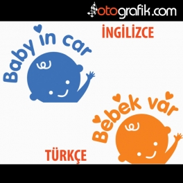 Baby in Car - Arabada Bebek Var Oto Sticker