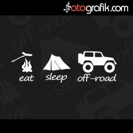 Eat Sleep OFFROAD Kelebek Cam  Sticker