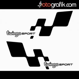 Twingo Sport Logo Oto Sticker Set