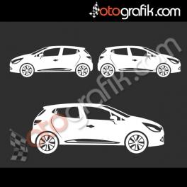 Renault Clio 4 Kelebek Cam Oto Sticker