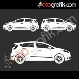 Ford Fiesta Kelebek Cam Oto Sticker