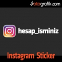 İnstagram Renkli Logo Oto Sticker