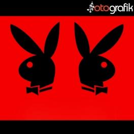 Playboy Kelebek Cam Oto Sticker Set