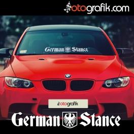 German Stance Ön Cam Oto Sticker