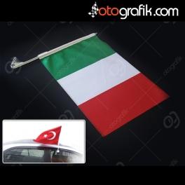 İtalya Bayrağı - Oto Bayrak
