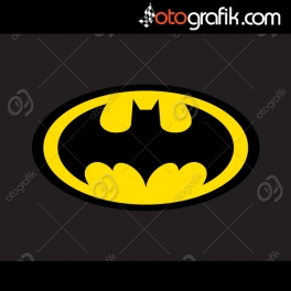 Batman Logo Renkli Oto Sticker