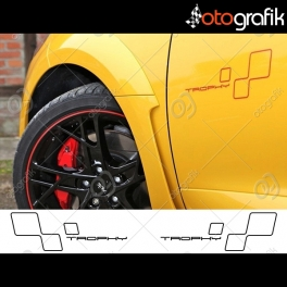 Renault Megane Trophy Oto Sticker Set