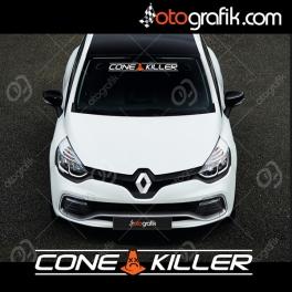 Cone Killer Ön Cam Oto Sticker