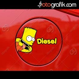 Bart Yakıt Tipi Oto Sticker