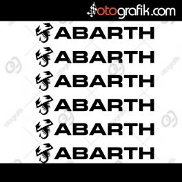 Abarth Kapı Kolu ve Jant Sticker Seti