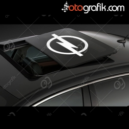 Opel Logo Sunroof Oto Sticker