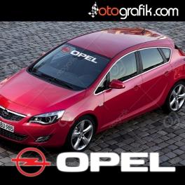 Opel Logolu Ön Cam Oto Sticker