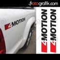 4 Motion Volkswagen Offroad Oto Sticker Set