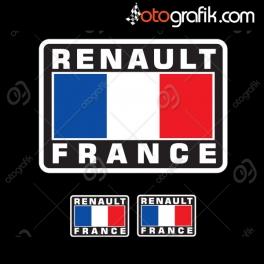 Renault France Kelebek Cam Oto Sticker Set