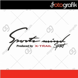 Nissan X-Trail Sports Mind Sticker