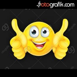 Sevimli Gülücük Emoji Oto Sticker