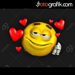 Mutlu Aşık Emoji Oto Sticker