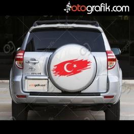 Türk Bayrağı Sticker (Beyaz Araçlar İçin)