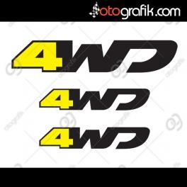 Dacia Duster 4WD Oto Sticker Seti
