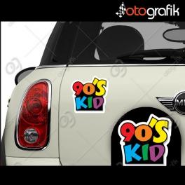 90's Kid Renkli Oto Sticker