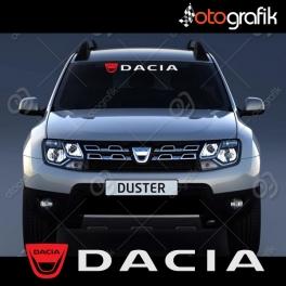 Dacia Logolu Ön Cam Oto Sticker