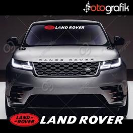 Land Rover Logolu Ön Cam Oto Sticker