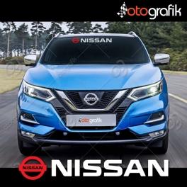 Nissan Logolu Ön Cam Oto Sticker