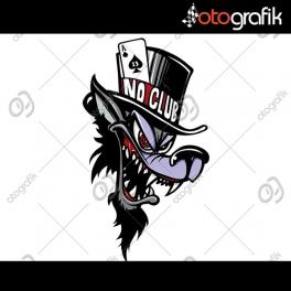 No Club Wolf Oto Sticker