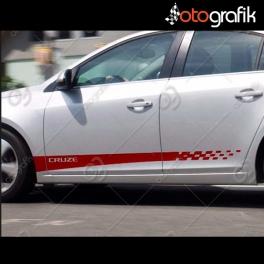 Chevrolet Cruze Oto Sticker Seti