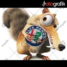 Alfa Romeo - Ice Age Buz Devri Oto Sticker