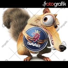 Saab - Ice Age Buz Devri Oto Sticker