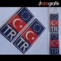 Plaka Ay Yıldız TR Arma Mavi