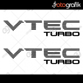 VTEC Turbo Oto Sticker Set