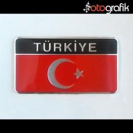 Ay Yıldız Dikdörtgen Metalize Türkiye Arma