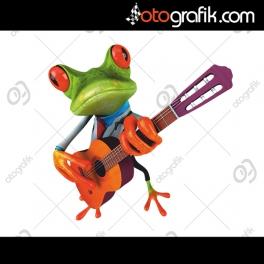 Gitarist Kurbağa Oto Sticker