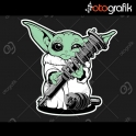 Yoda Yay Renkli Oto Sticker