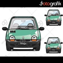 Twingo Renkli Oto Sticker Set