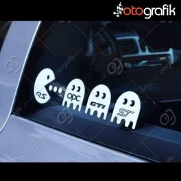 Pacman Rekabeti Oto Sticker
