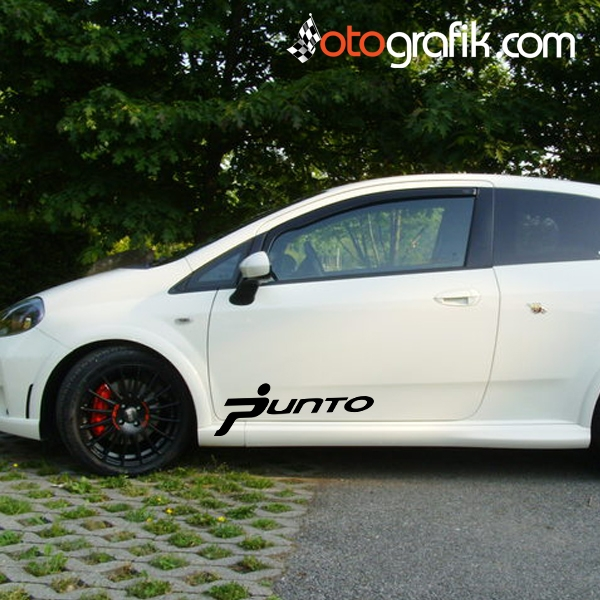fiat punto logo oto sticker set otografik. Black Bedroom Furniture Sets. Home Design Ideas