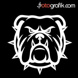 Öfkeli Bulldog Oto Sticker