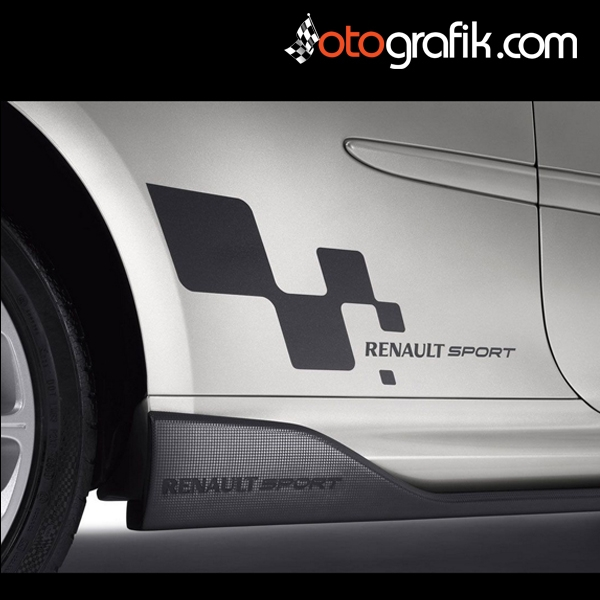 renault sport logo oto sticker set otografik. Black Bedroom Furniture Sets. Home Design Ideas