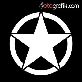 Army Star Yıldız Arma Oto Sticker