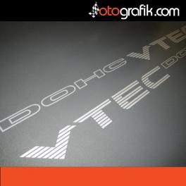 Honda VTEC DOHC Logo Oto Sticker Set